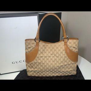Authentic Gucci large shopper tote satchel purse